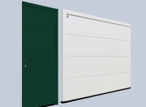 Гаражная боковая дверь Hormann NT 60 M-гофр Silkgrain 875 х 2000