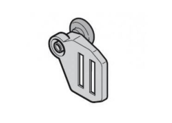 Верхний роликодержатель с ходовым роликом, направляющая N, слева Hormann (3045402)