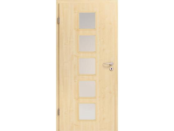 Межкомнатная дверь BaseLine, натуральный шпон - «клен»