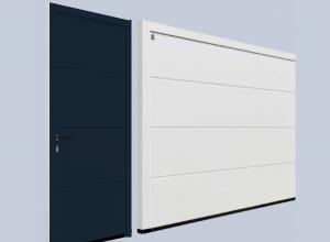 Гаражная боковая дверь Hormann NT 60 M-гофр Sandgrain 875 х 2000